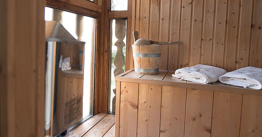 casa rural con sauna